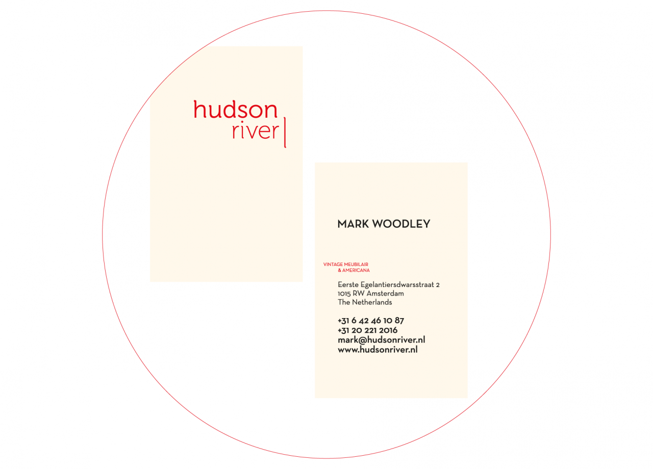 Hud­son RIver busi­ness card
