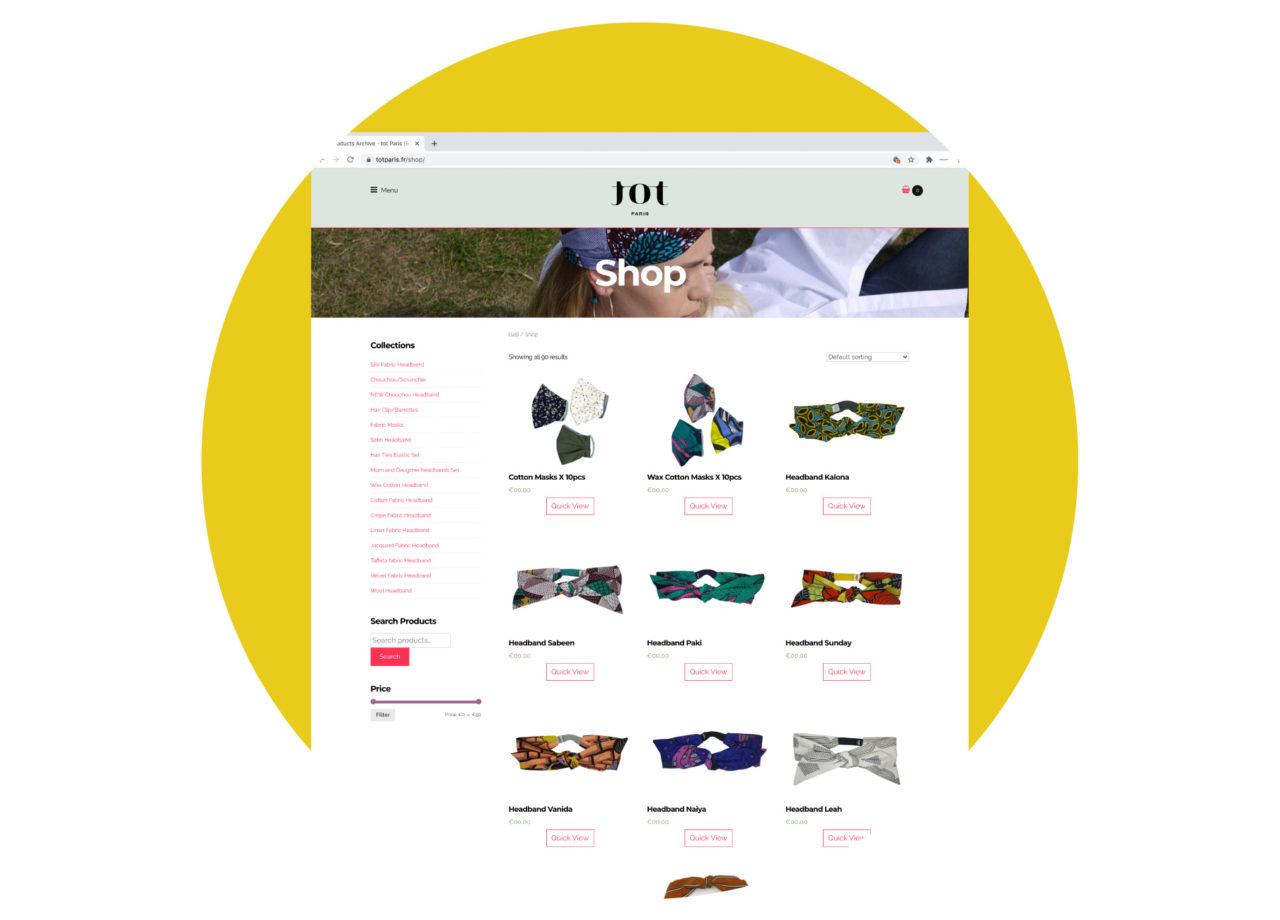tot Paris — B2B webshop